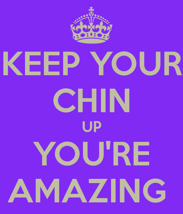 Chin up! Clip art