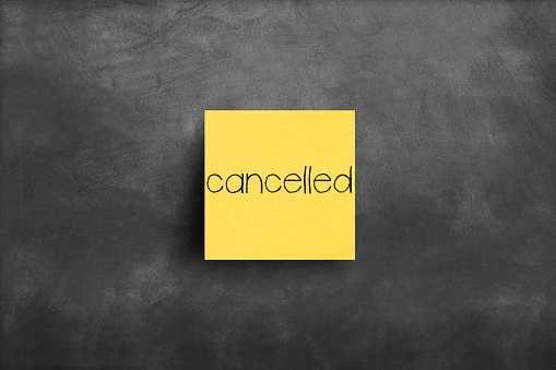 Cancelled sticky note