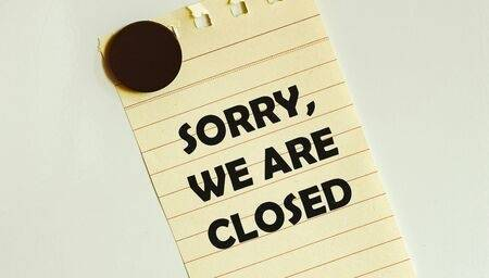 Sorry we are closed clip art