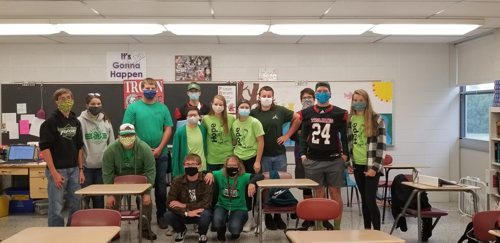 Turkey Valley juniors wear green for Duchenne Muscular Dystrophy